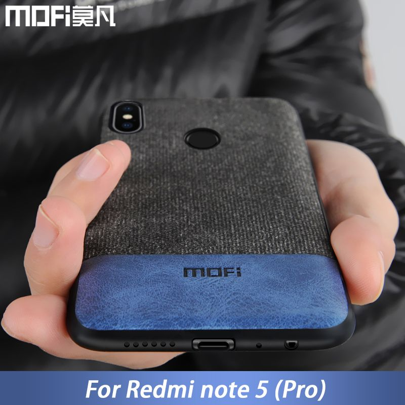 Pour Xiaomi Redmi Note 5 housse note5 Mondial Version de couverture arrière de silicone bord tissu cas coque MOFi Redmi note 5 pro cas