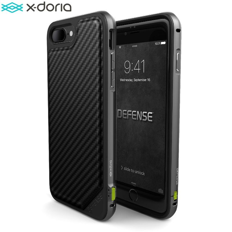 X-Doria Defense Lux Case for iPhone 7 / iPhone 7 Plus Coque, Military Grade Drop Tested, TPU & Aluminum, Phone Protective Cover