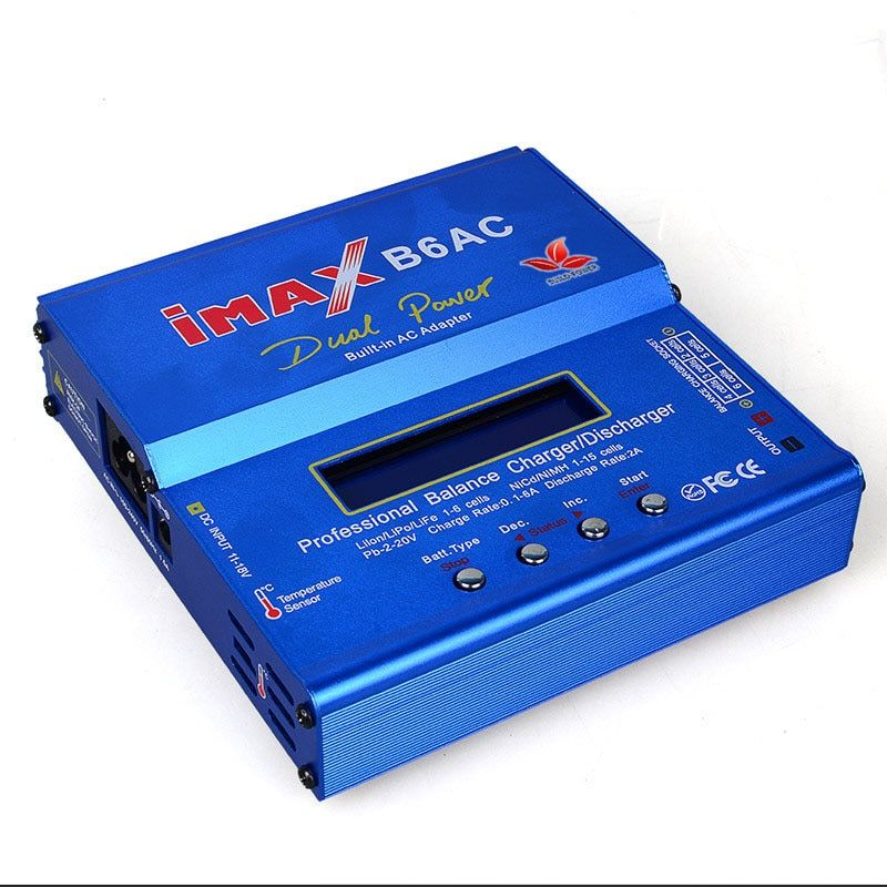 AKASO New iMAX B6 AC 80W B6AC Lipo NiMH 3S/4S/5S RC Battery Balance Charger + EU/US plug power supply wire
