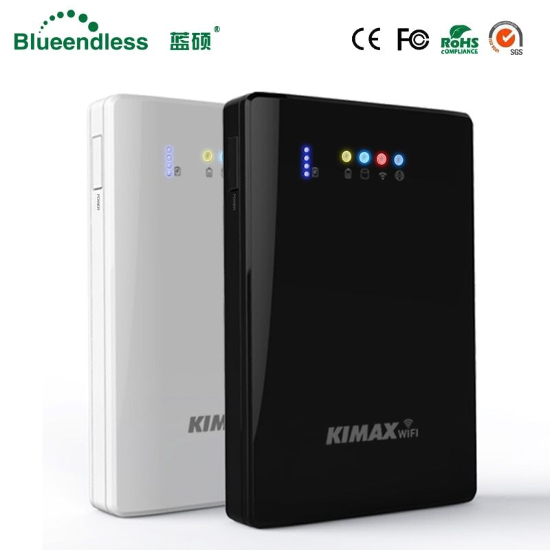 (Disque dur inclus) ordinateur portable hdd wifi disque dur externe 2 to HDD 2.5 sata usb3.0 wifi routeur sans fil 4000 mah powerbank