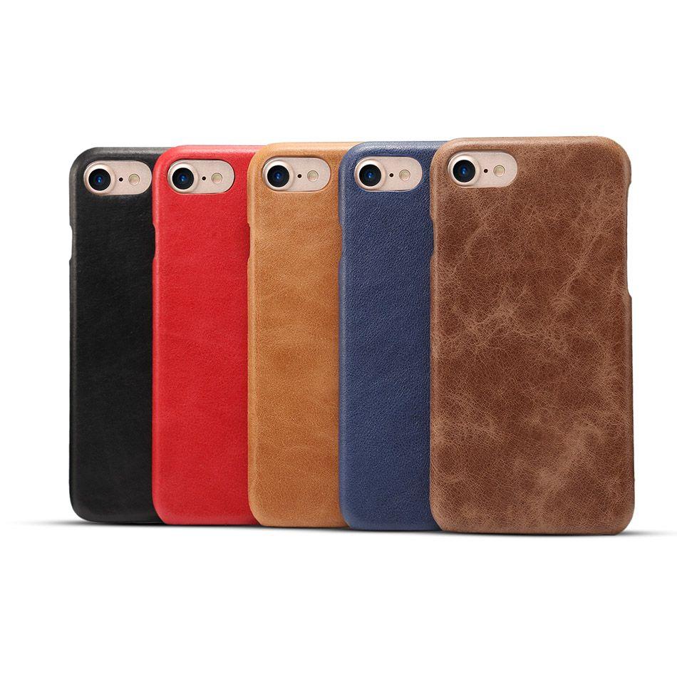 Vintage Cas Pour Samsung S9 S8 Plus Rétro Véritable En Cuir Cas Pour iPhone X XS 8 6 6 s 7 plus Simple Classique Couverture Capa Sac B89