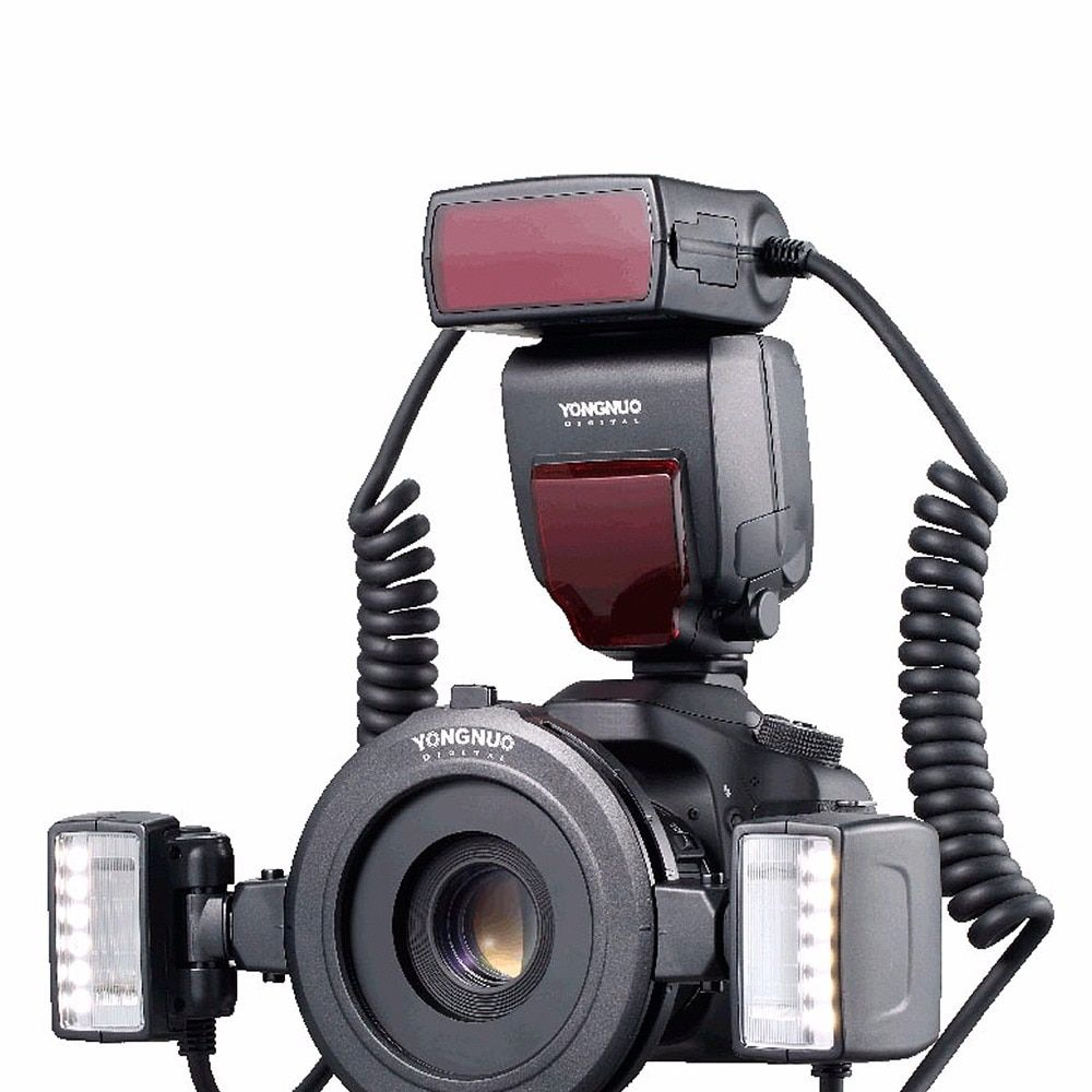 Yongnuo YN24EX TTL Macro Flash Speedlite with Adapter Rings for Canon EOS 5DII 5DIII 650D 600D 450D New Listing