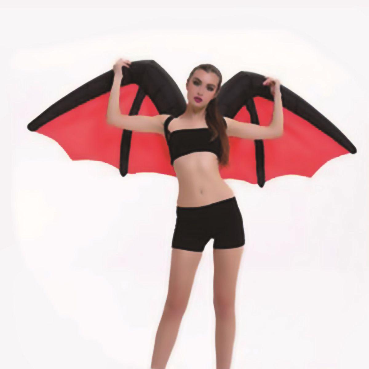 Costumes gonflables d'ailes d'ange foncé d'halloween Costumes gonflables de chauve-souris de démon