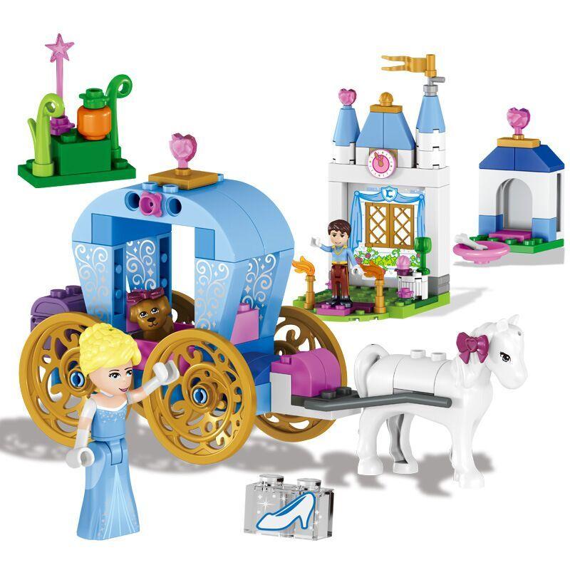 Amis Pour Fille Blocs Princesse Cendrillon Citrouille de Transport 37002 Set Jouet Compatible Avec Duploe 41053