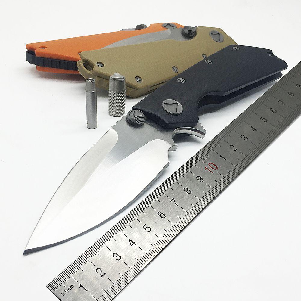 BMT DOC Pliant Couteau 9Cr18Mov Lame G10 Poignée Flipper Tactique Couteaux Survie En Plein Air Camping Microtech Chasse Outils