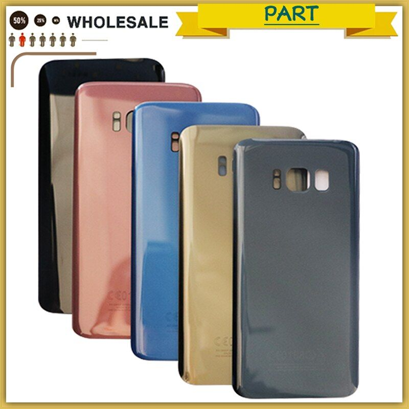 Original For Samsung S8 G950F Back Glass Battery Cover Housing For Samsung S8 Plus S8+ G955F Back Cover with tracking