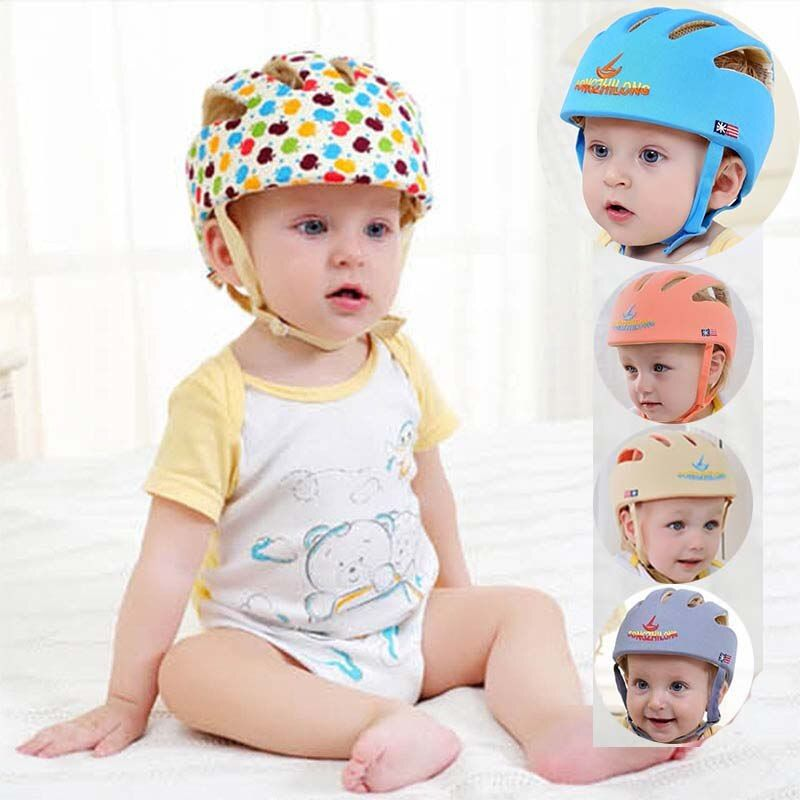 infant protective hat safety <font><b>helmet</b></font> for babies cotton baby summer kids sun hats girl muts children boys caps bonnet baseball cap