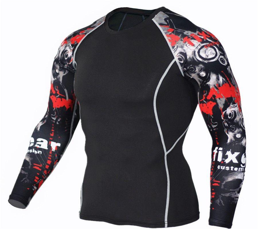 Teen Men's Gym Training T-Shirt MMA Clothing compression t-shirt man fitness jogging apparel  rash guard 4XL free delivery