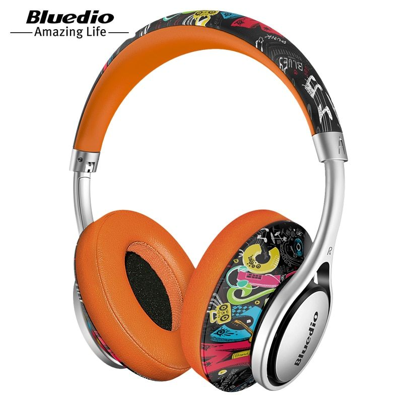 Bluedio A2 (Air) Bluetooth Headphone/Headset Printed Wireless Headphones For 4.2 Bluetooth Music Earphones