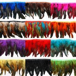 1 Mètres Américain Indien Extensions de Cheveux Coiffe Plume Mariage Décoration Mariée Robes De Poulet Plumes Parti Décoratif Jupe