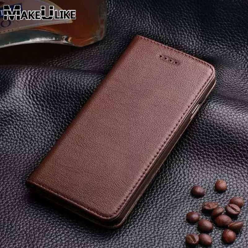 MAKEULIKE étui pour Iphone 6 6 s 6 Plus en cuir véritable Coque magnétique pour Iphone 6 Plus