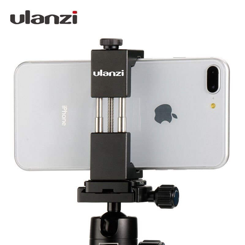 Ulanzi IRON MAN Smartphone Tripod <font><b>Mount</b></font> Universal Aluminum Metal Phone Tripod Adapter Holder Stand for iPhone X 8 7 plus Samsung