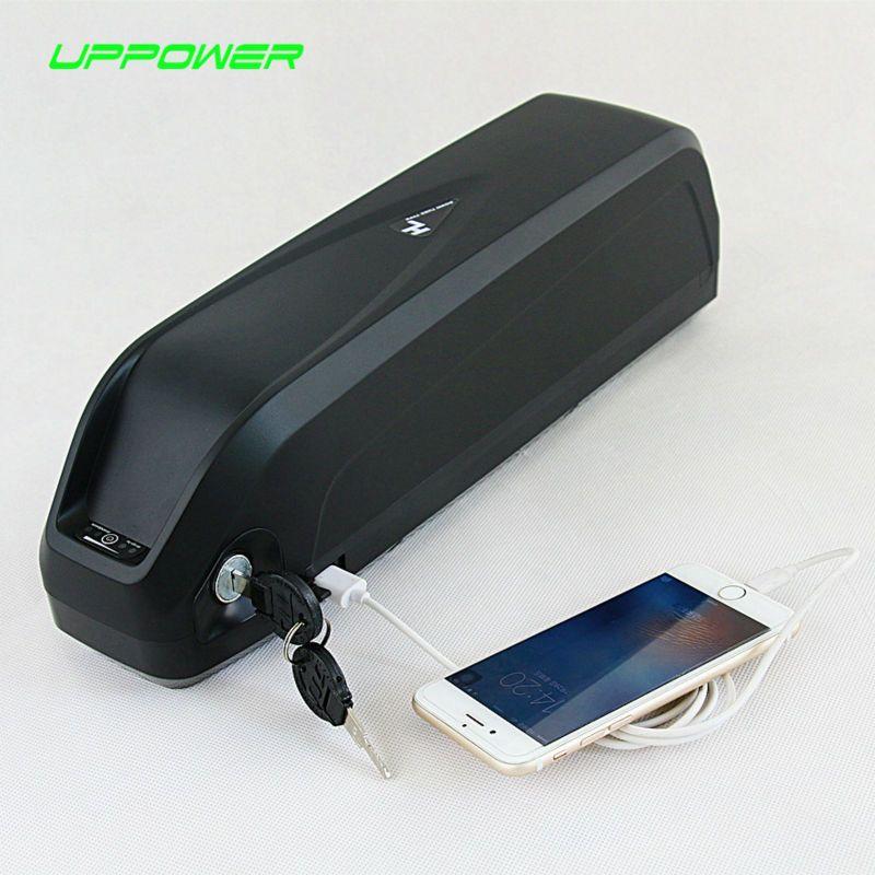 US EU AU No Tax Hailong battery with USB Sanyo GA cell 48V 17.5Ah Li-ion electric bike battery for Bafang 1000W BBSHD motor kit