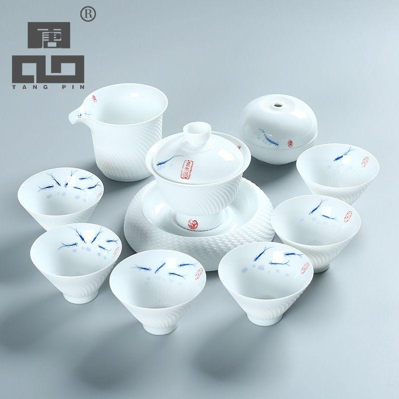 TANGPIN keramik teekanne wasserkocher gaiwan teetasse fisch keramik tee-sets chinesischen kung fu tee-set