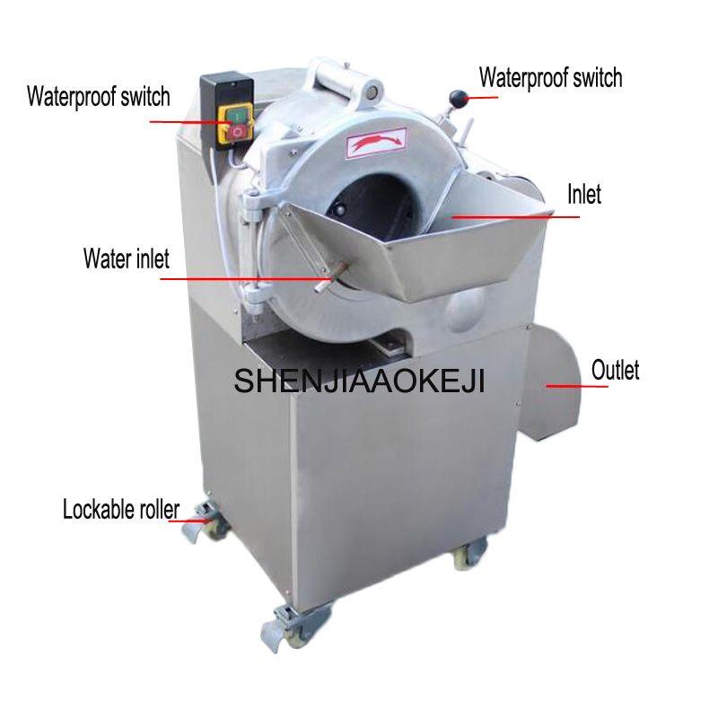 CHD-100 8*8mm Dicing maschine 800-1000 kg/std edelstahl multifunktionale gemüse cutter gemüse spirale slicer 220 V 1 PC