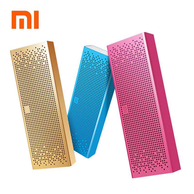 Haut-parleur d'origine Xiao mi Bluetooth sans fil stéréo mi ni lecteur MP3 Portable poche Audio mains libres avec carte mi c TF AUX-in