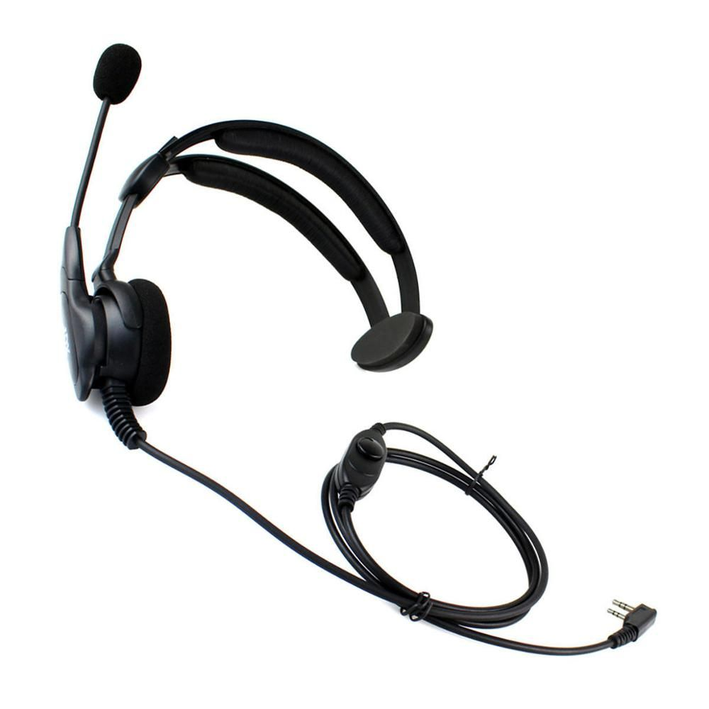 2 pin XQF PTT MIC Speaker Headphone Headset for Kenwood KPG27D BAOFENG 888s