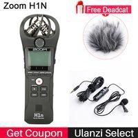 Профессиональный Рекордер Zoom H1 Диктофон Цифровой SLR камеры Audio Стерео микрофон для Интервью Запись для видеоблогинг