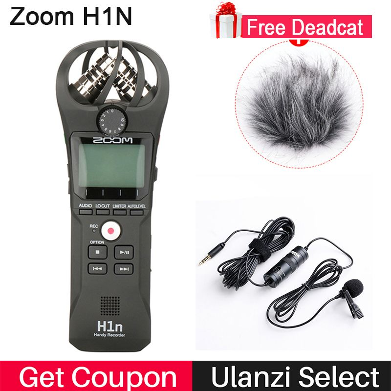 ZOOM H1 H1N Handy Recorder Digital Camera Audio Recorder Interview Recording Stereo Microphone for DSLR Boya BY-M1 Microphone