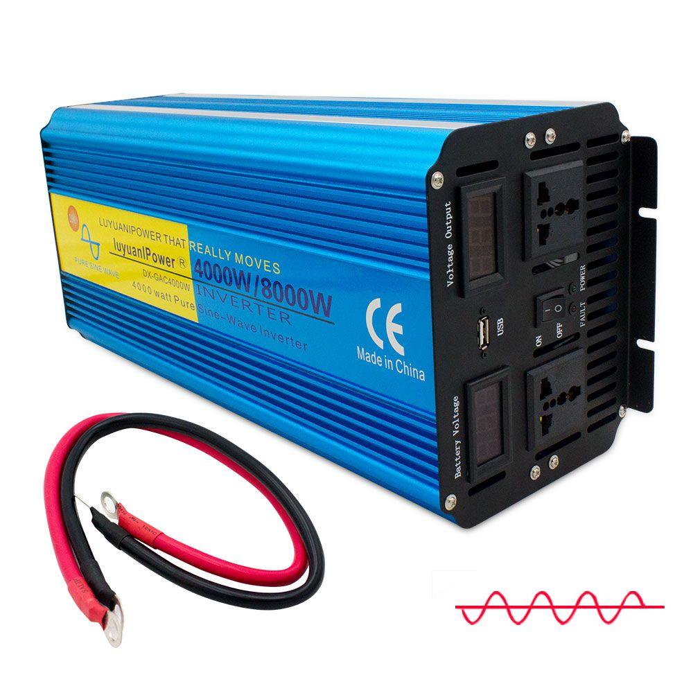 8000W reine sinus welle power inverter DC 12 V/24 V ZU AC 220 V/230 V /240V mit Dual Led-anzeige 3.1A USB