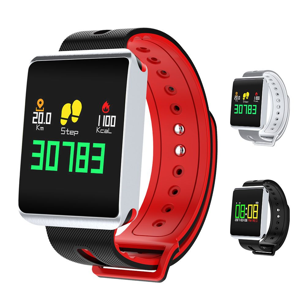 TF1 Bluetooth 4.0 Smart Watch Heart Rate Blood Pressure Oxygen Tracker Passometer for IOS Android Waterproof Smart Wristwatch