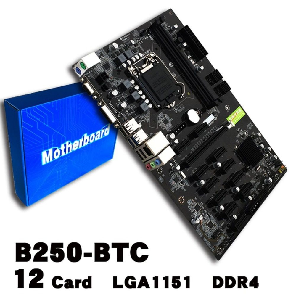 Mining Board B250 Mining Expert Motherboard Video Card Interface Supports GTX1050TI 1060TI Designed For Crypto Mining