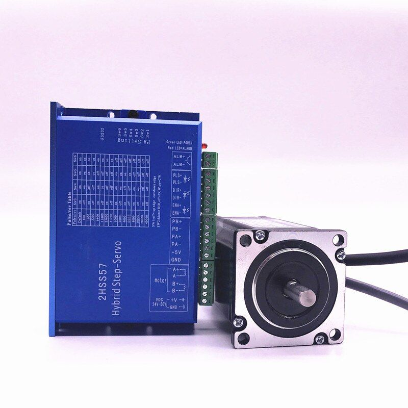 57J1880EC-1000+2HSS57 Closed-loop step combined packages 2.0N.m Nema 23 Hybird closed loop 2-phase stepper motor driver