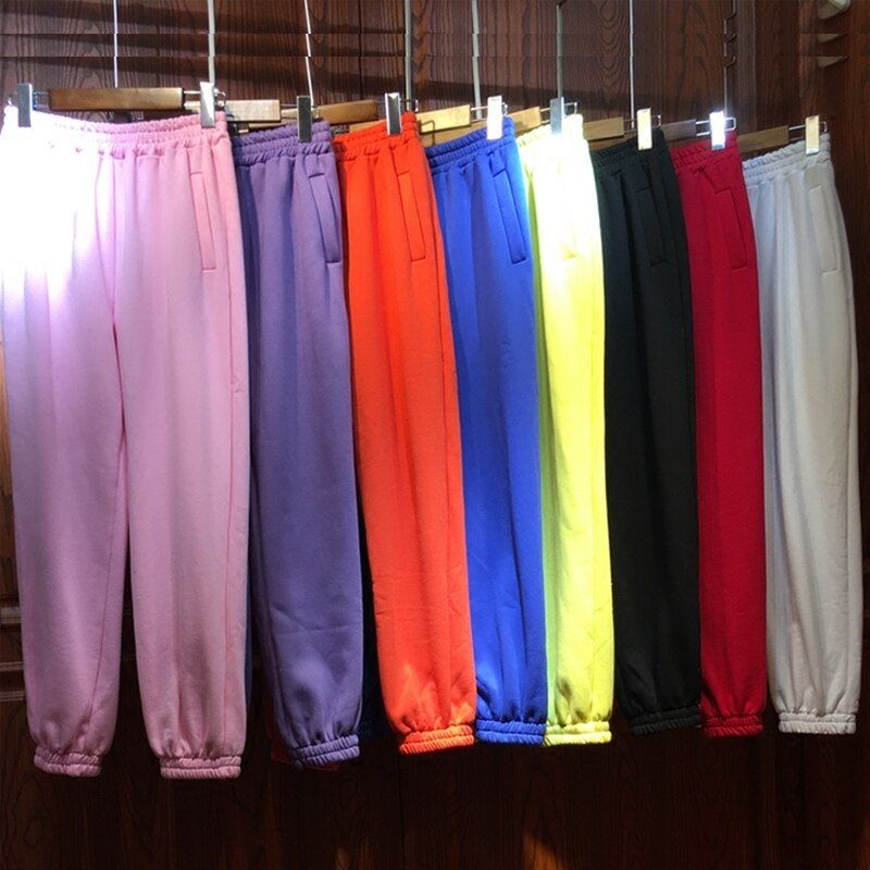 Lulu Leggings Real New Cotton Women Pants 2017 Winter Warm Pants Plus Thick Colorful Multicolored Loose Lantern Casual Female