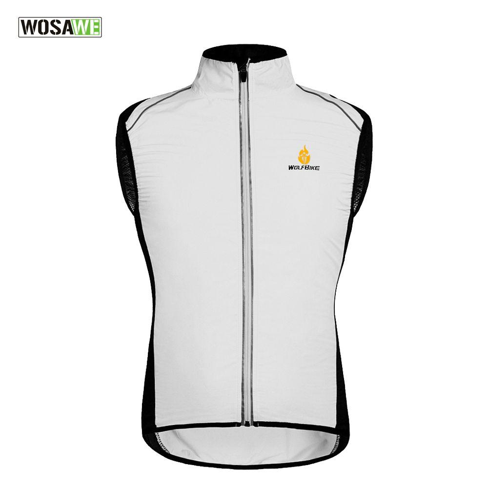 WOSAWE Tour de France Radfahren Sportkleidung Männer Trikots Zyklus Bekleidung Windcoat Atmungsaktives Fahrrad Jacke Weste Gilet