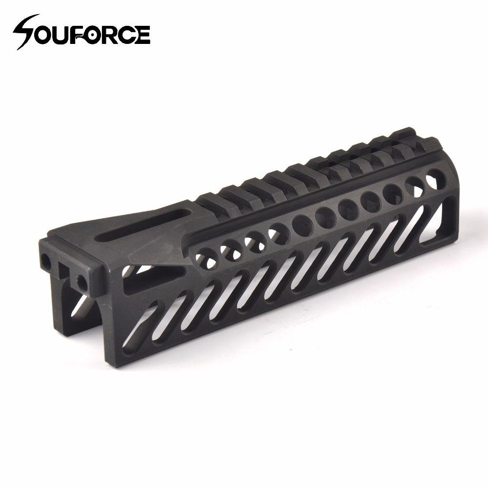 6,5 Zoll Taktische Waffe Schiene System GripExtend Picatinny Schiene Handschutz Abdeckung für AK47 b10 Zielfernrohre Jagd Schießen