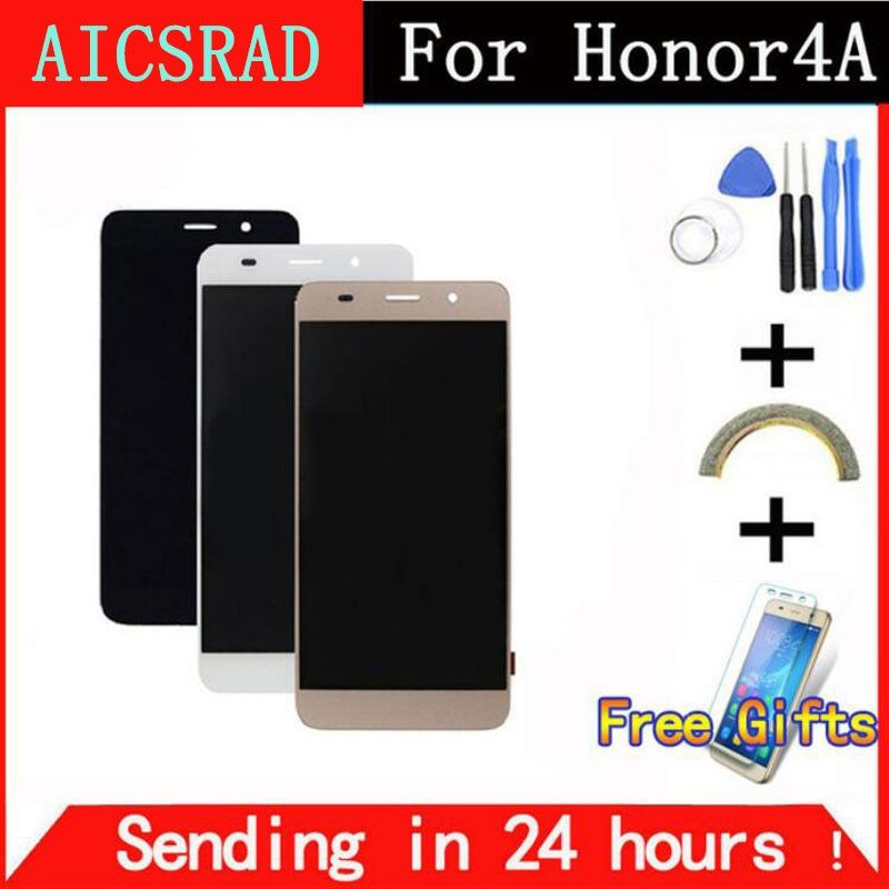AICSRAD Tested Working LCD Display Touch Screen Digitizer Assembly WITH FRAME For Huawei Honor 4A Y6 SCL-L01 SCL-L21 SCL-L04