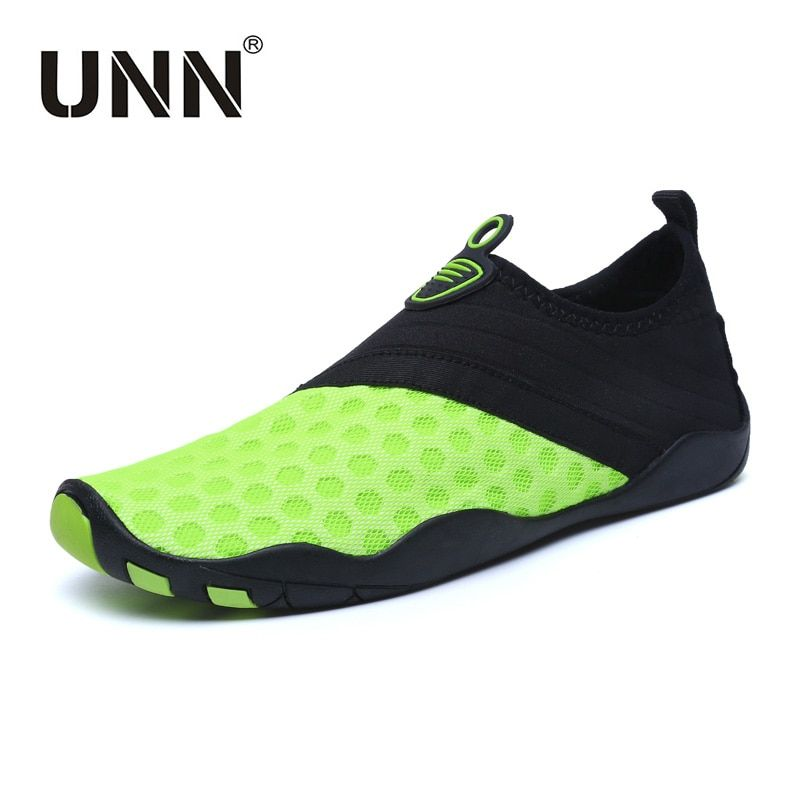 UNN NEW Swimming Shoes For Man Woman Breathable Mesh Quick-Drying Water Shoes Men For Swim <font><b>Aqua</b></font> Socks Beach Footwear Green