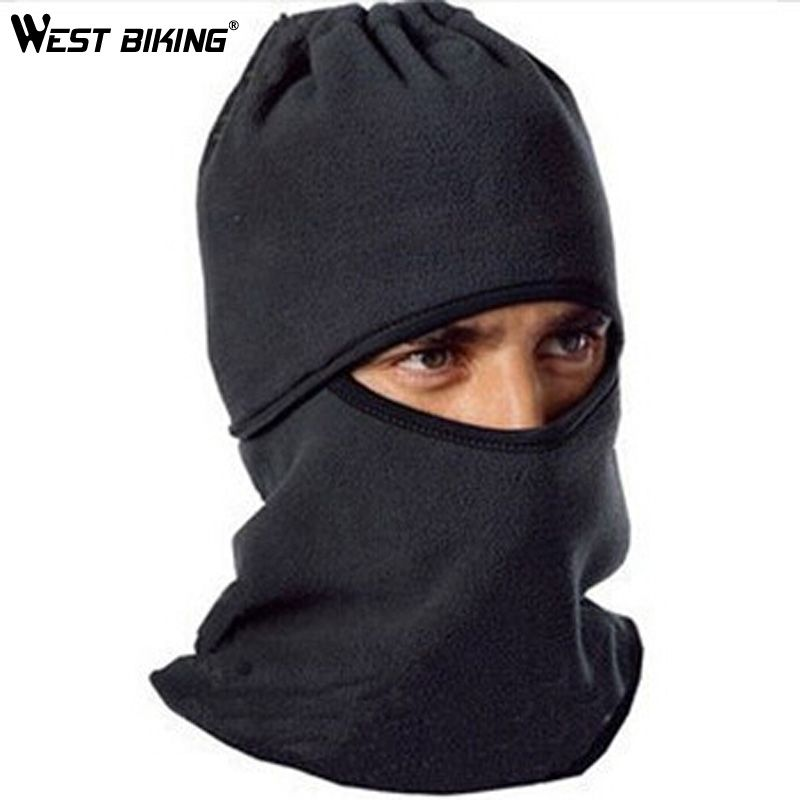 WEST BIKING Cycling Hats Skiing Camping Hiking Outdoor Caps Winter Fleece Bicycle Riding Face Mask Unisex Windproof Thermal Hat