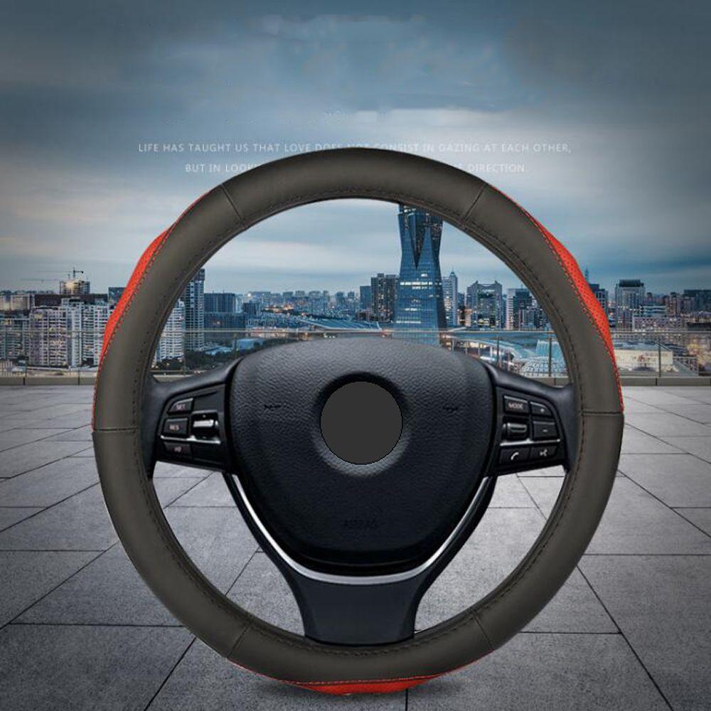 Echtes Leder Auto lenkung-rad Leder Universal Auto Lenkrad Abdeckung Fit Für Die Meisten Autos Styling Auto Innen Zubehör