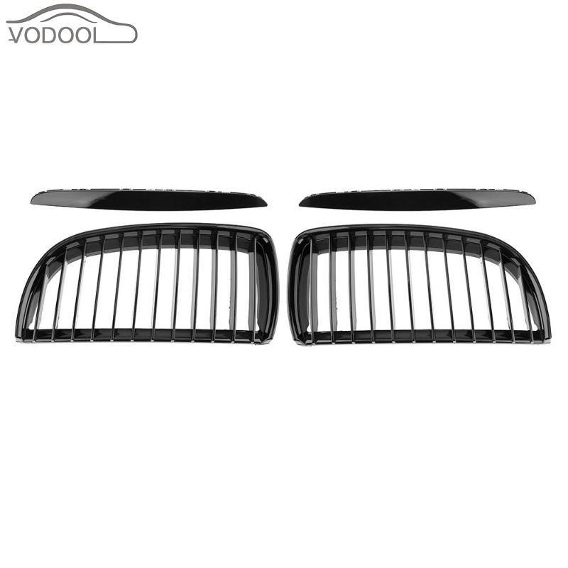 1 Pair Gloss Black Car Front Kidney Grilles Racing Grills for BMW E90 318 320i 323i 325i 328i 330i 335xi 04-08 Auto Accessories