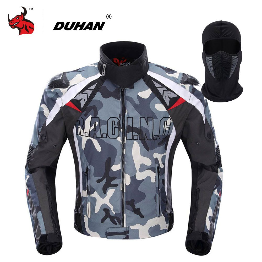 DUHAN Men's Oxford Cloth Motorcycle Jacket Motocross Off-Road Racing Jacket Camouflage Guards Clothing Blouson Moto