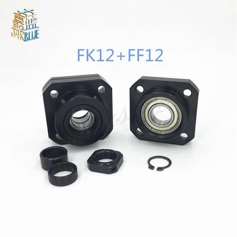 FK12 FF12 Support for 1605 1604 1610 set :1 pc FK12 Fixed Side +1 pc FF12 Floated Side CNC parts Woodworking Machinery Parts