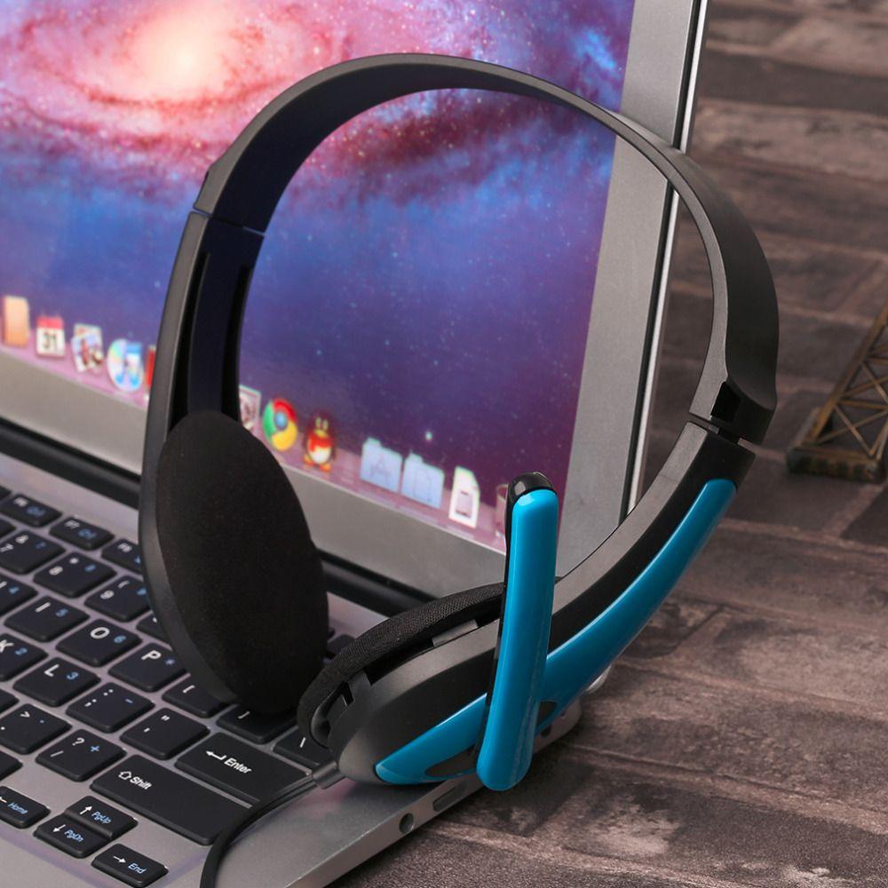 JM-472 Universal Computer Laptop PC Kopfhörer Ergonomisches Design 3,5 MM Verdrahtete Spielen Spiel Headset Rot/Blau