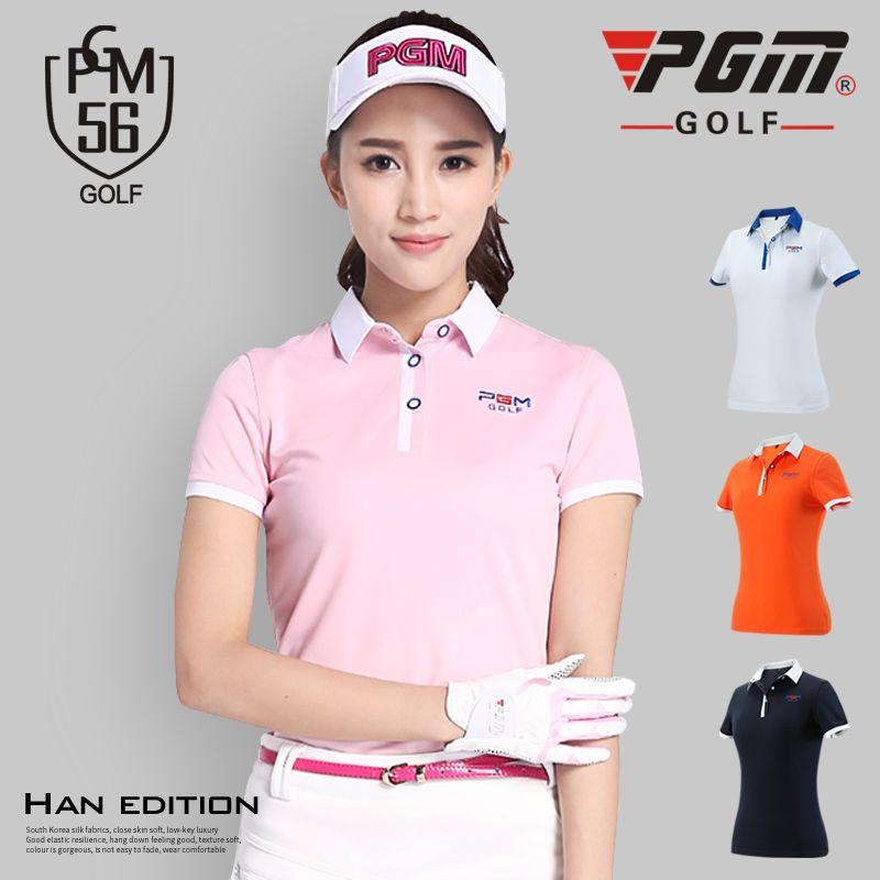 PGM Golf Polo Shirt Lady Short Sleeved T-shirt Summer Sportswear Clothes Dry Fit Tops Tennis Tshirt Ropa De Golf Polera Hombre