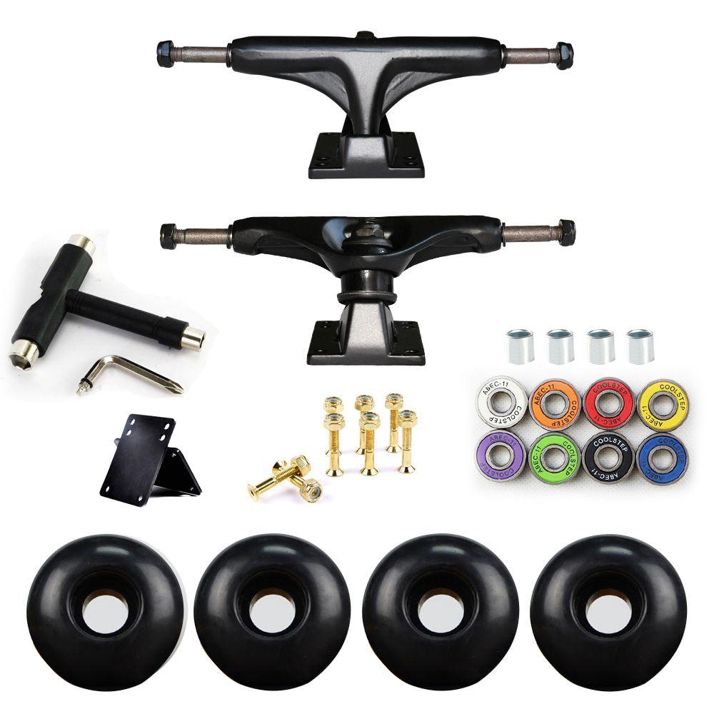 5in Skateboard Trucks Combo Set 5230mm roues aluminium magnésium alliage professionnel pont planche à roulettes support livraison gratuite