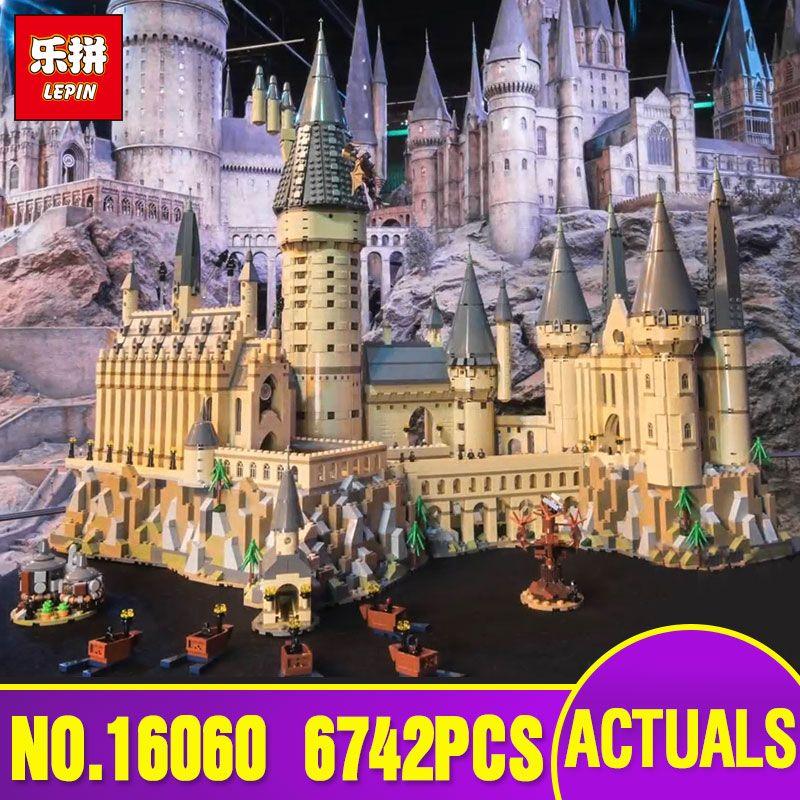 Lepin 16060 Harry Movie Series The Legoinglys 71043 Hogwarts Castle Set Building Blocks Bricks House Model Christmas Toys
