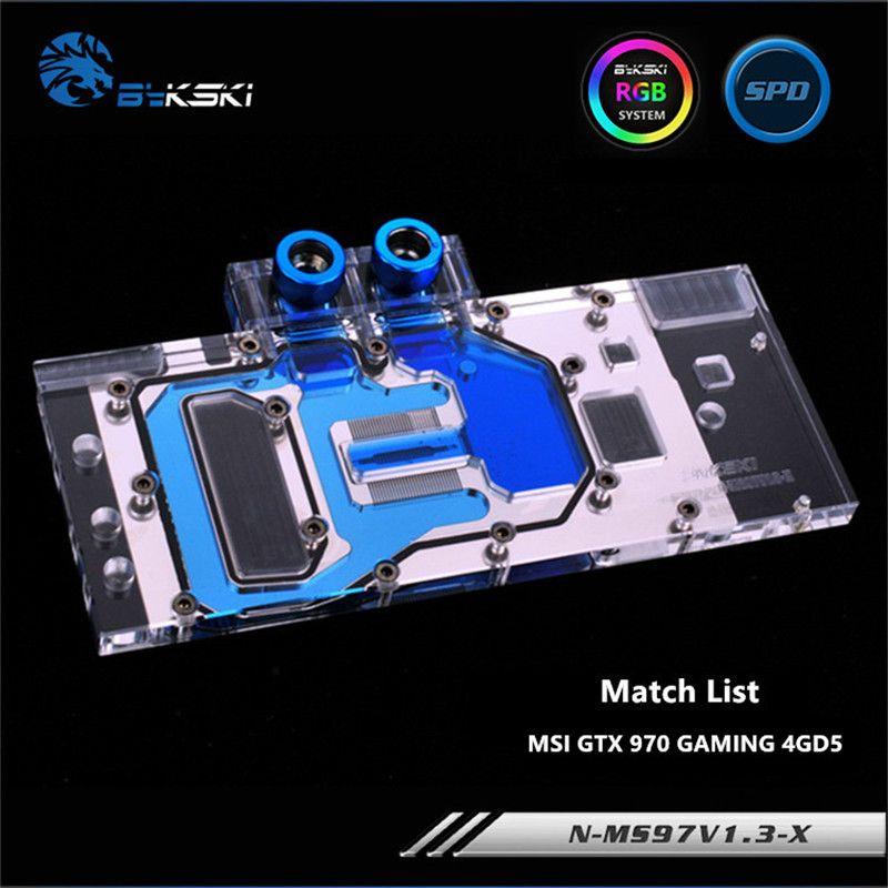 Bykski Full Coverage GPU Water Block For MSI GTX970 GAMING Graphics Card N-MS97V1.3-X