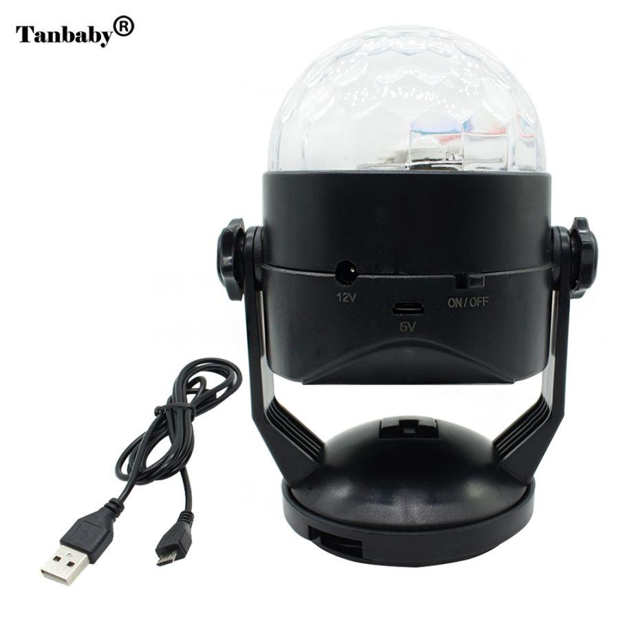 Tanbaby RGB LED Pointeur Laser Lumière de La Scène Disco Commande Vocale USB ou À Piles Projecteur Laser Parti Bar Motif Éclairage
