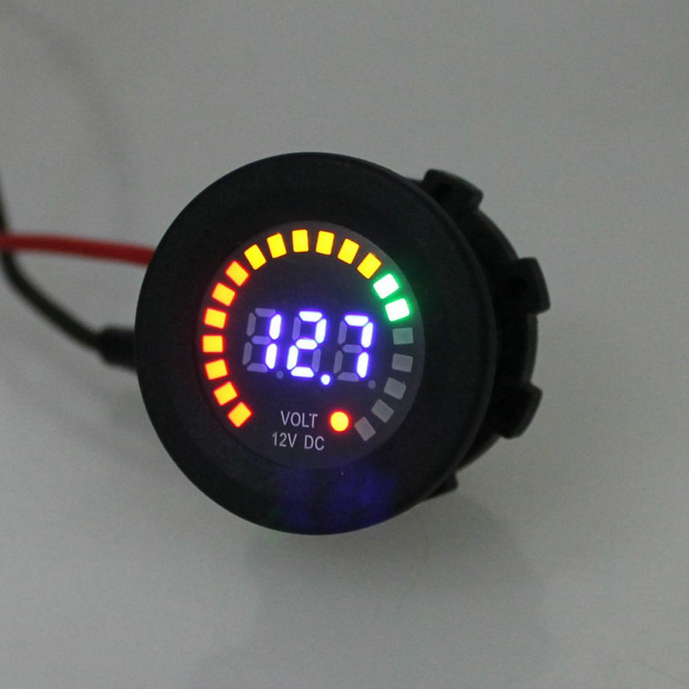 12V LED Digital Car Motorcycle Voltmeter Socket Universal Auto Voltmeter LED Display Volt Voltage Meter Gauge High Quality