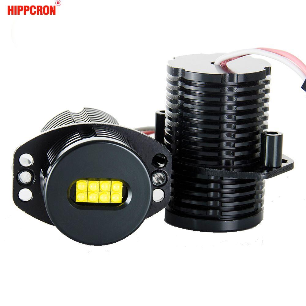 hippcron LED Angel Eyes Marker 2*80W 160W for CREE XTE LED Chips XENON White 7000K for BMW E91 E90 2 Pieces(1 Set)