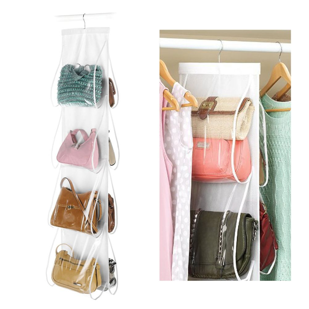 Backpack handbag Storage Bags Be Hanging Shoe Storage Bag High Home Supplies 8 Pocket Closet Rack Hangers