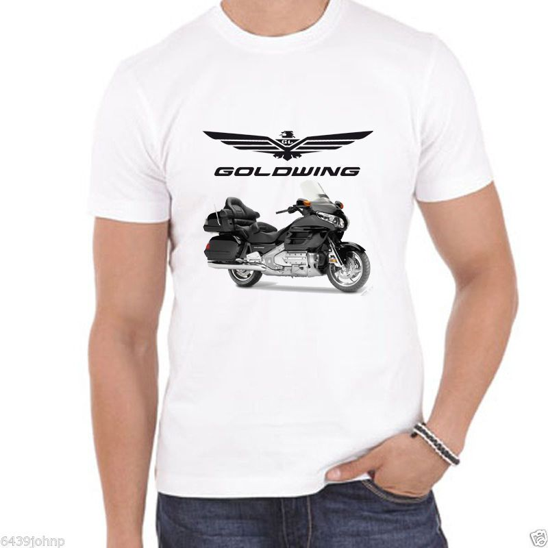 2018 New Summer Tee Shirt BLACK Japanese Motorcycle GOLDWING, CLASSIC VINTAGE BIKER ENTHUSIAST T SHIRT Cool T-shirt