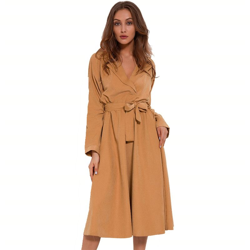 M0RUANCLE Fashion Womens Spring Autumn Velvet Windbreaker X-Long Velour Trench Coat Outerwear For Women Size S-XL