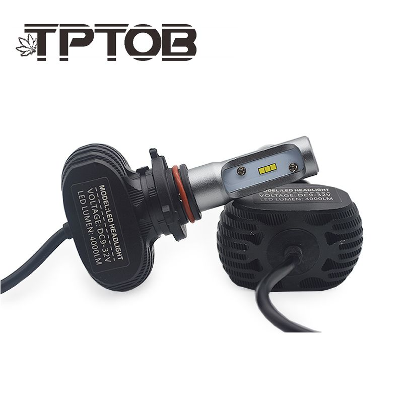 TPTOB 2Pcs <font><b>9005</b></font> HB3 9006 HB4 H11 H4 H7 Led H1 Auto Car Headlight S1 N1 50W 8000LM 6000K Automobile Bulb All In One CSP Lumileds