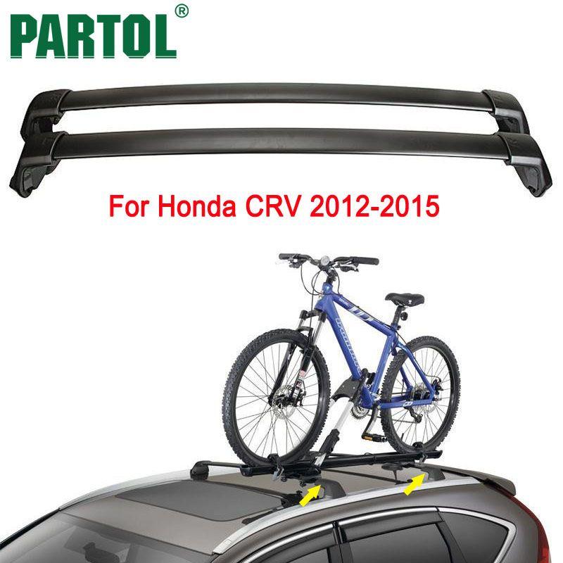 Partol Noir De Toit De Voiture Rack Croix Bar Barres Transversales Top Box Cargo Porte-bagages Toit barres Transversales 150LBS Pour Honda CRV 2012-2015